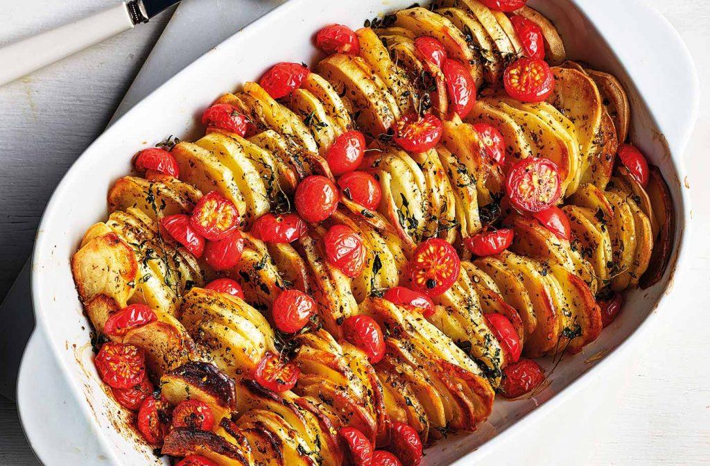 domates ve kekikli patates